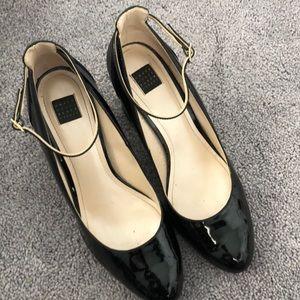 WHBM Black Block Heels